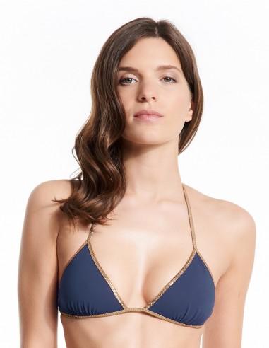Bikini reversible Burgandy & Navy - top - Swimwear - Tooshie
