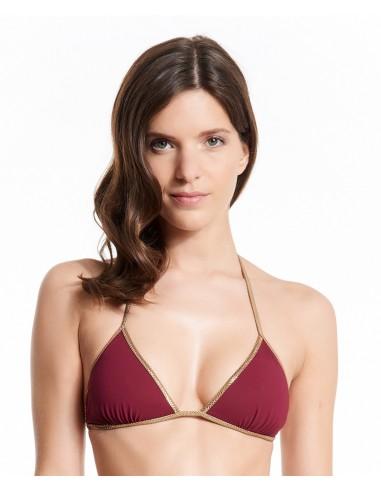 Bikini reversible Bordeaux & Petrol Blue - top - Swimwear - Tooshie