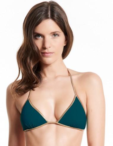 Bikini reversible Dark Green & Blue - top - Swimwear - Tooshie