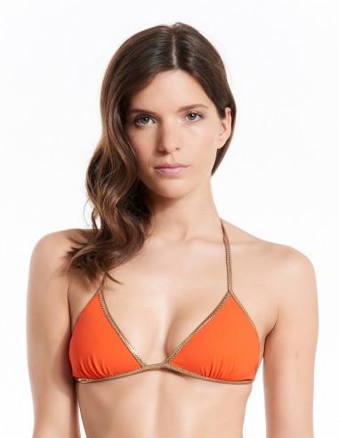 Bikini reversible Orange Clementine & Yellow - top - Swimwear - Tooshie