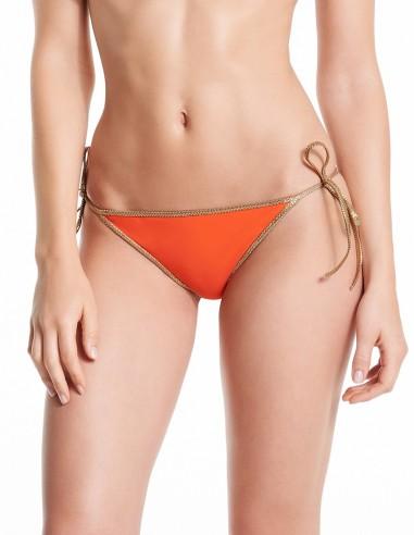 Bikini reversible Orange Clementine & Yellow - bottom - Swimwear - Tooshie
