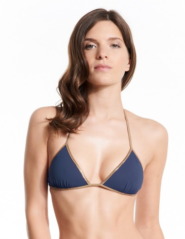 MISSING BLACK 201 Bikini reversible Navy & Black - top - Swimwear - Tooshie