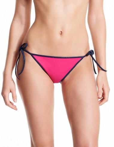 Bikini reversible Fuxia & Pink - bottom navy Lurex - Swimwear - Tooshie