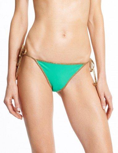 Missing Sand Foto Bikini reversible Green & Sand - bottom - Swimwear - Tooshie
