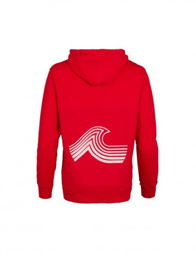 Sweatshirt Hoody Red with white wave tooshie back