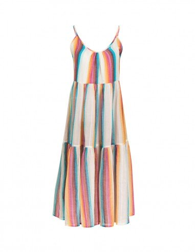 BEACHDRESS COTTON TANK TOP RAINBOW - Beachwear - Tooshie Front