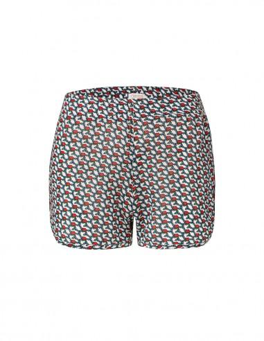 Shorts cotton Flower Print Amalfi Front- Tooshie