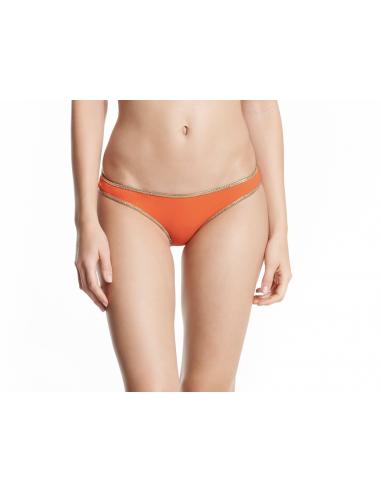 Swimsuit bandeau reversible orange bottom Hampton bandeau - Swimwear - Tooshie