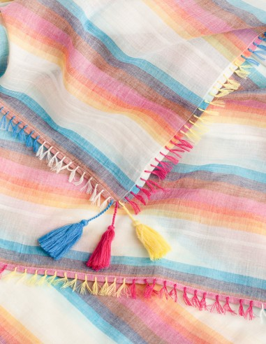 Pareo Cotton Rainbow Closeup