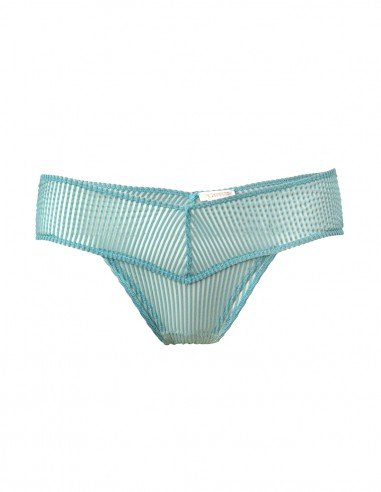 BOTTOM STRIPY TURQUOISE FRONT- TOOSHIE LINGERIE