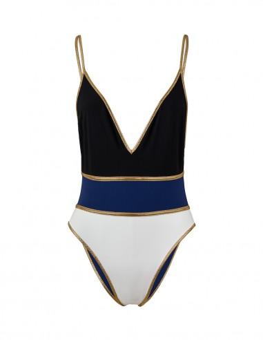 SWIMSUIT REVERSIBLE GOLD SHINNECOCK - Swimwear - Tooshie