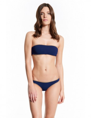 BANDEAU REVERSIBLE GOLD LUREX HAMPTON - Swimwear - Tooshie