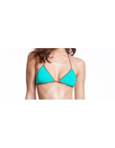 Bikini reversible Dark Turquoise Turquoise - top - Swimwear - Tooshie
