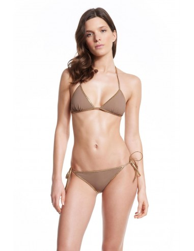 BIKINI REVERSIBLE GOLD LUREX HAMPTON - Swimwear - Tooshie