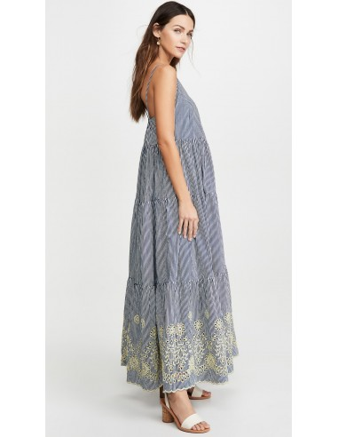 LONG DRESS EMBROIDERED GIANELLA - Home - Tooshie
