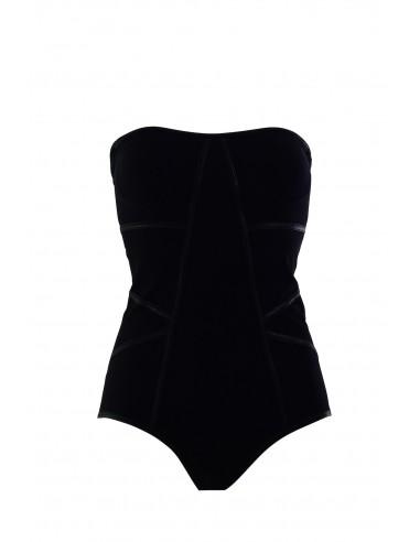 SWIMSUIT PIQUÉ BLACK MAT TRONCOSO - Swimwear - Tooshie