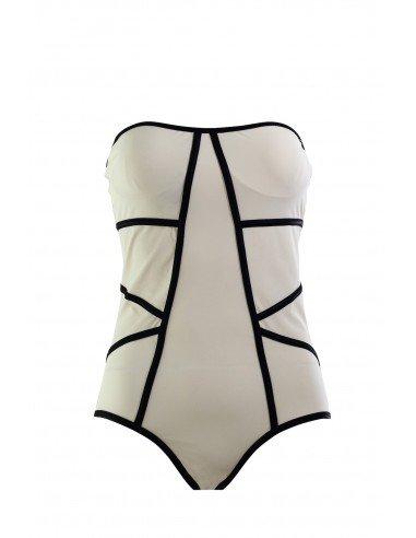 SWIMSUIT BLACK MAT TRONCOSO - Swimwear - Tooshie
