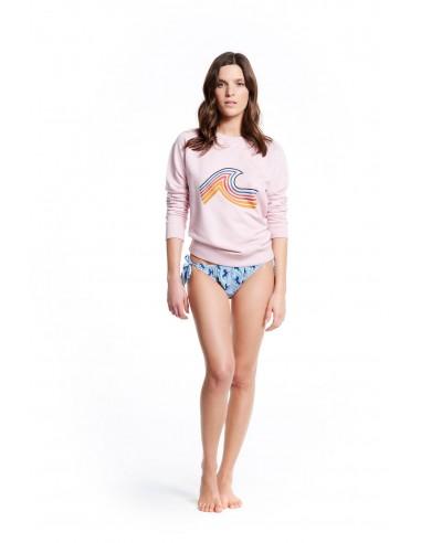 SWEATSHIRT WITH WAVE MALIBU - Beachwear - Tooshie